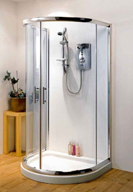 Pacific D Shaped Shower Enclosure 1030mm X 900mm One Wall Shower