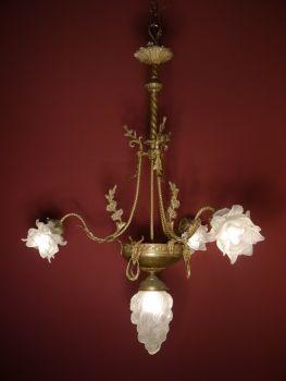 4 Flammige Wunderschone Messing Bronze Jugendstil Lampe Figurlich Jugendstil Lampen Kronleuchter Antik Jugendstil