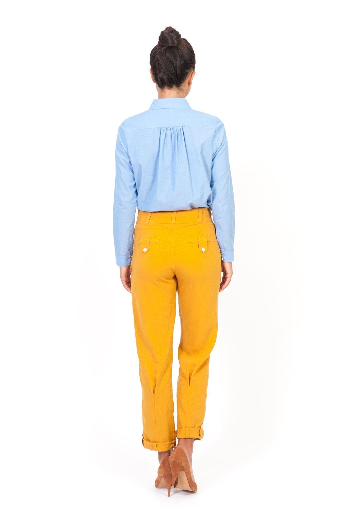 pantalon raoul sun jaune