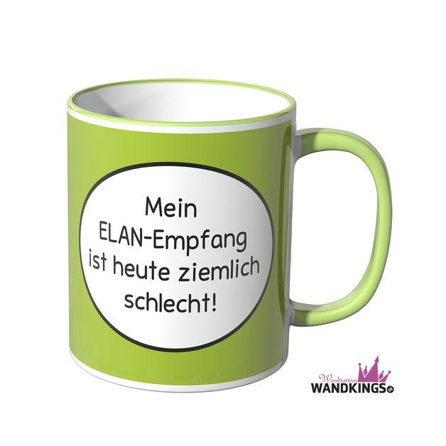 Becher & Tassen - Wandkings Tasse, Spruch Mein ELAN-Empfang... - ein Designerstück von Wandkings-de bei DaWanda #steinebemalenvorlagen
