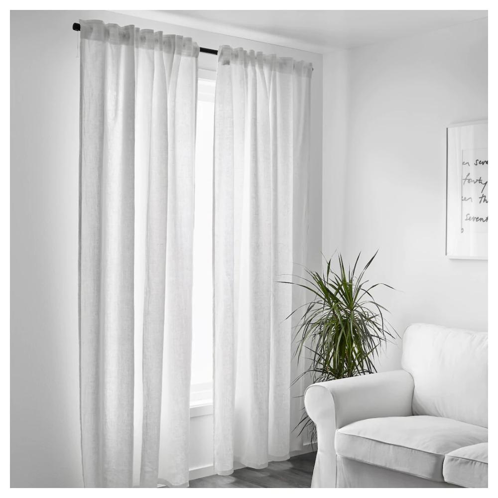 Aina Rideaux 2 Pieces Blanc 145x300 Cm Ikea Curtains