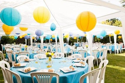 decoration mariage jaune et bleu turquoise. Black Bedroom Furniture Sets. Home Design Ideas
