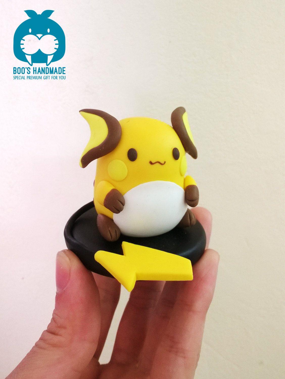 Raichu - Pokemon kawaii handmade figure by Booshandmade on Etsy