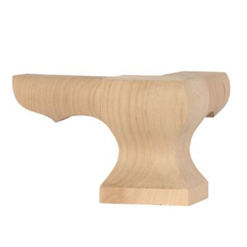Legacy Artisan Cathedral Corner Square Face Pedestal Foot Furniture Legs Wood Table Legs Furniture Feet