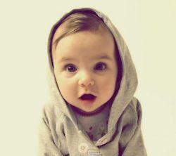Baby! Cute hoodie too
