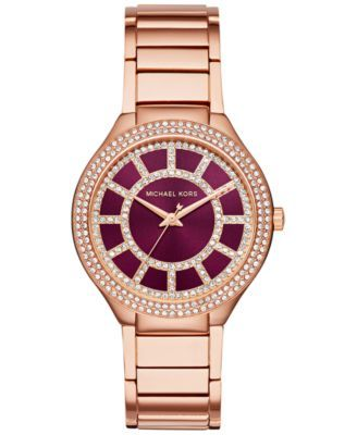 fea51a5d7102 Michael Kors Women's Kerry Rose Gold-Tone Stainless Steel Bracelet Watch  37mm MK3434, Only at Macy's