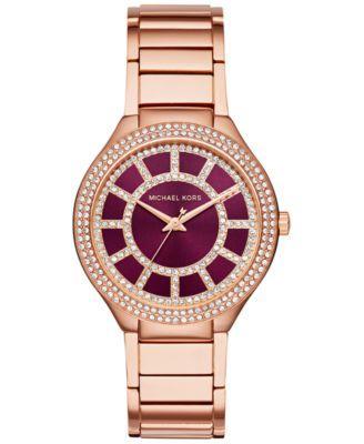 eeda185e9fb Michael Kors Women's Kerry Rose Gold-Tone Stainless Steel Bracelet Watch  37mm MK3434, Only at Macy's