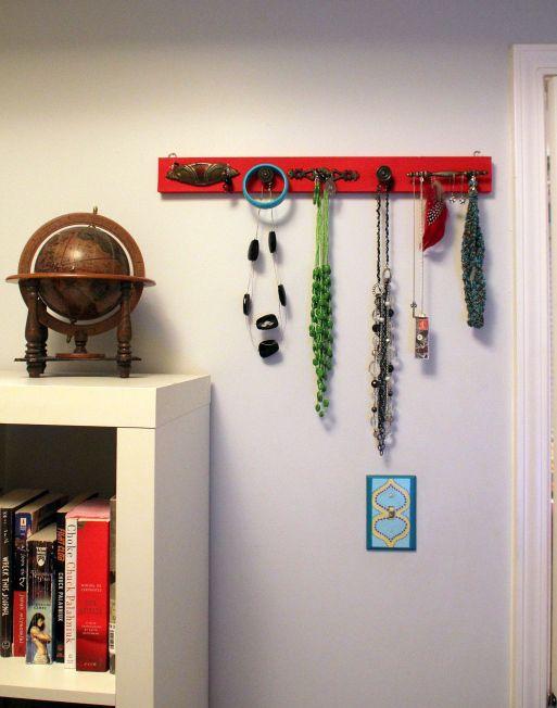 DIY Jewelry Organizer with Antique Drawer Pulls Diy jewelry
