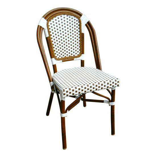 3007-Alston Quality Industries 3007 Bamboo Style Aluminum Dining Chair