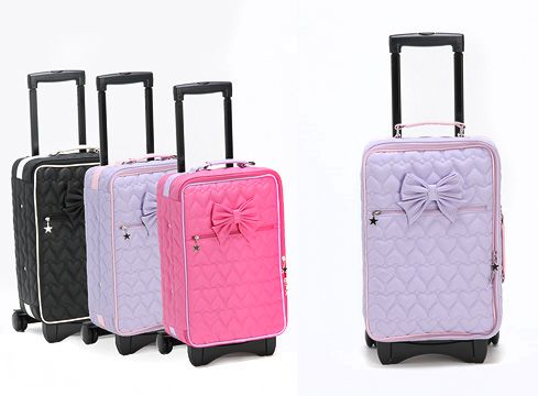 Bow Travel Bags Lolita style in pink, black and white. | Kawaii ...
