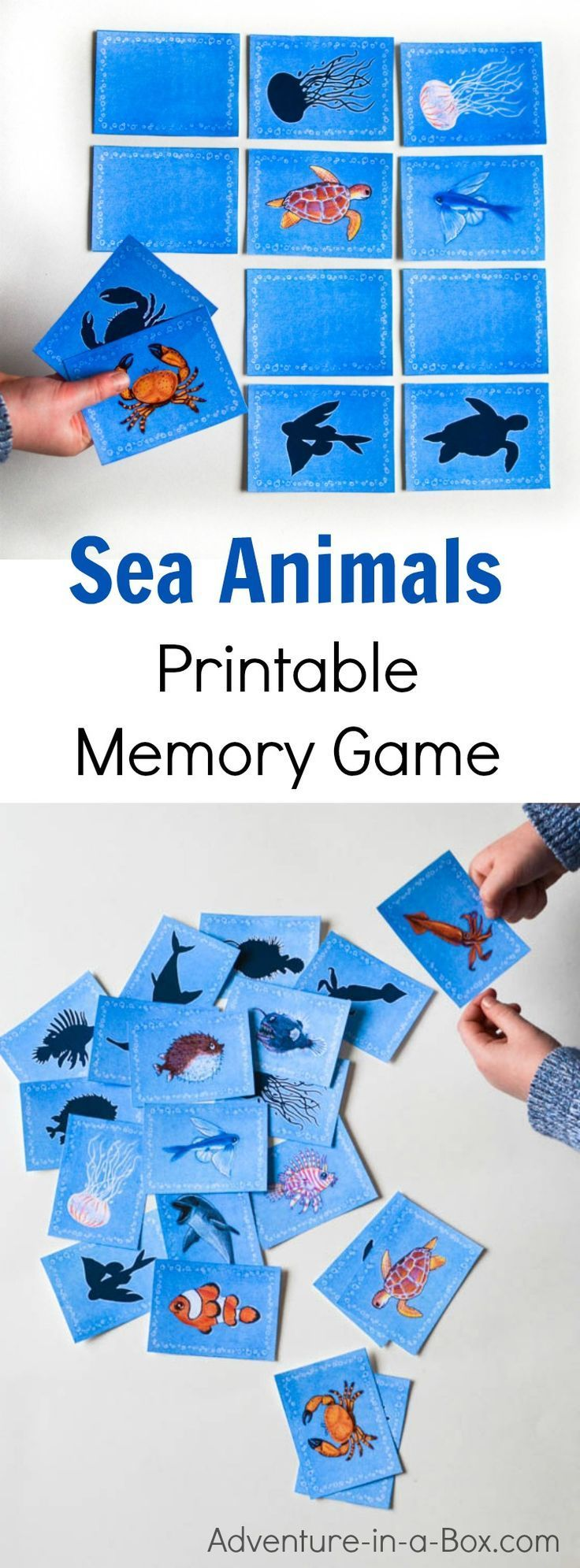 Sea Animals Printable Memory Game For Kids A Fun Matching