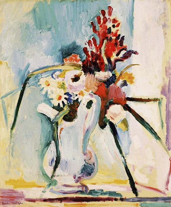 Matisse / Flowers in a Pitcher   1906 (100 Kb); Canvas, 21 1/2 x 18 in; Barnes Foundation