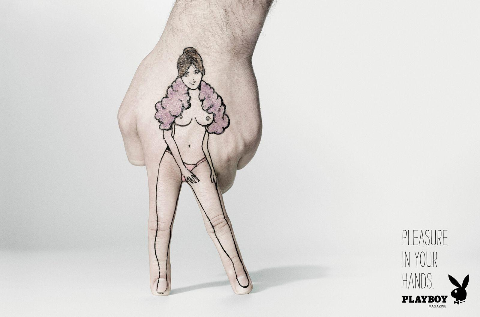 """""""Pleasure in your hands"""" - Playboy Magazine (2012)"""