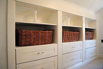 Attic Storage | attic storage | Attic renovation inspiration
