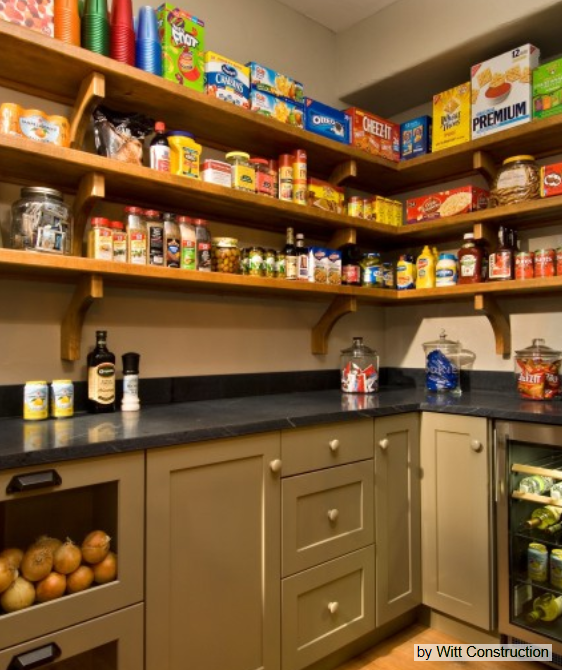 Walk In Pantry Design Ideas Modern Walk In Pantry Open: Walk In Pantry With Real Counter-tops--space To Small