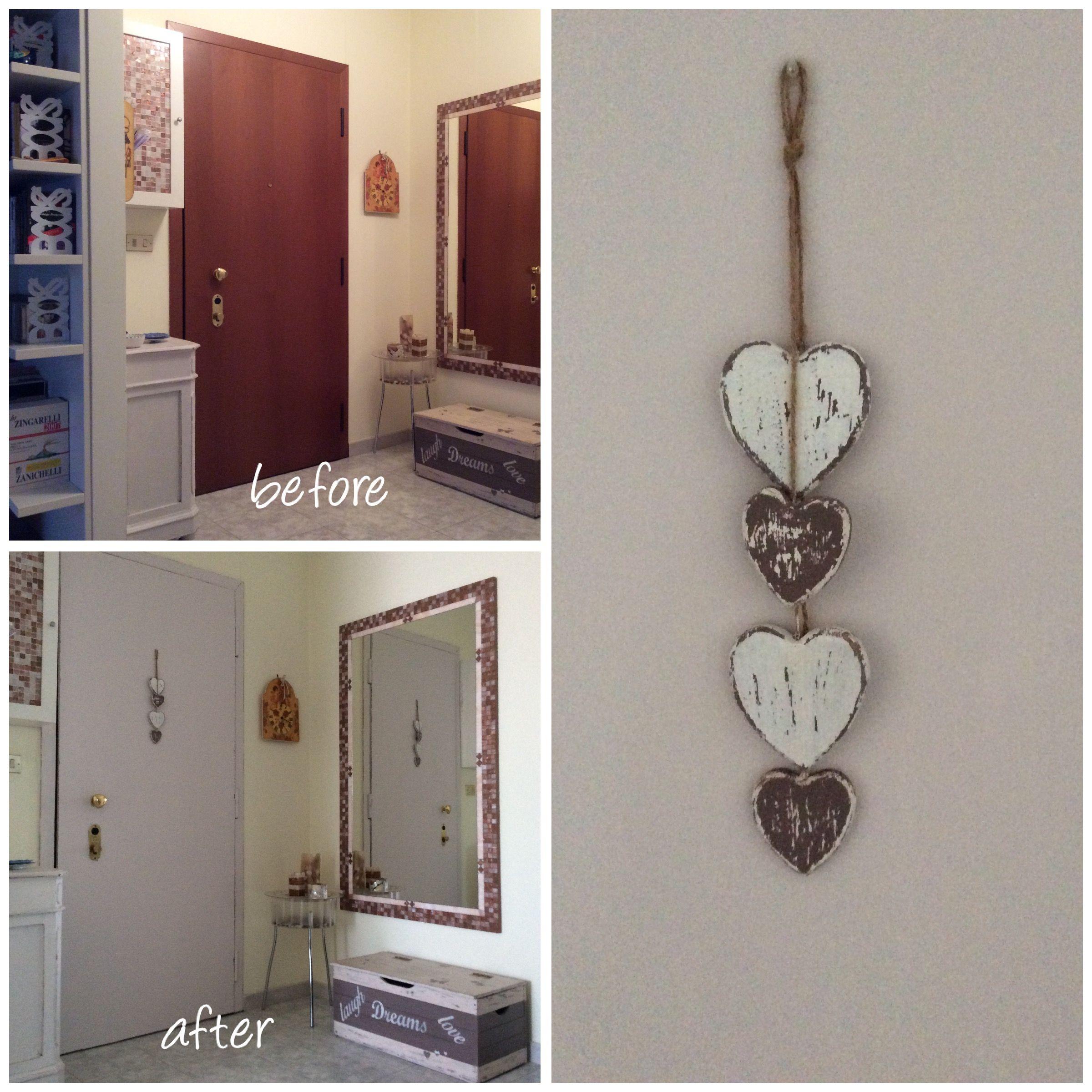 Pittura porta d\'ingresso stile shabby chic | Home decor ...