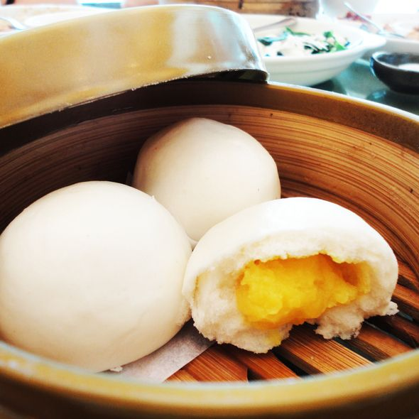 Creamy Egg Custard Bun Dim Sum Recipes Food Dim Sum