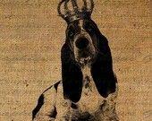 Cavalier King Charles Spaniel Heart Crown Dog Royal Digital Image Download Sheet Transfer To Pillows Tote Bags Tea Towels  Burlap No. 1472