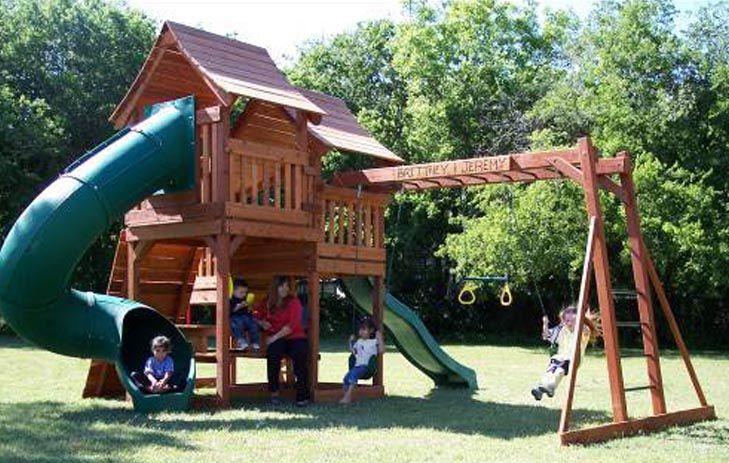 Backyard Playsets | Backyard Fun Factory Announces Mustang Wooden Playsets  At Its Website .