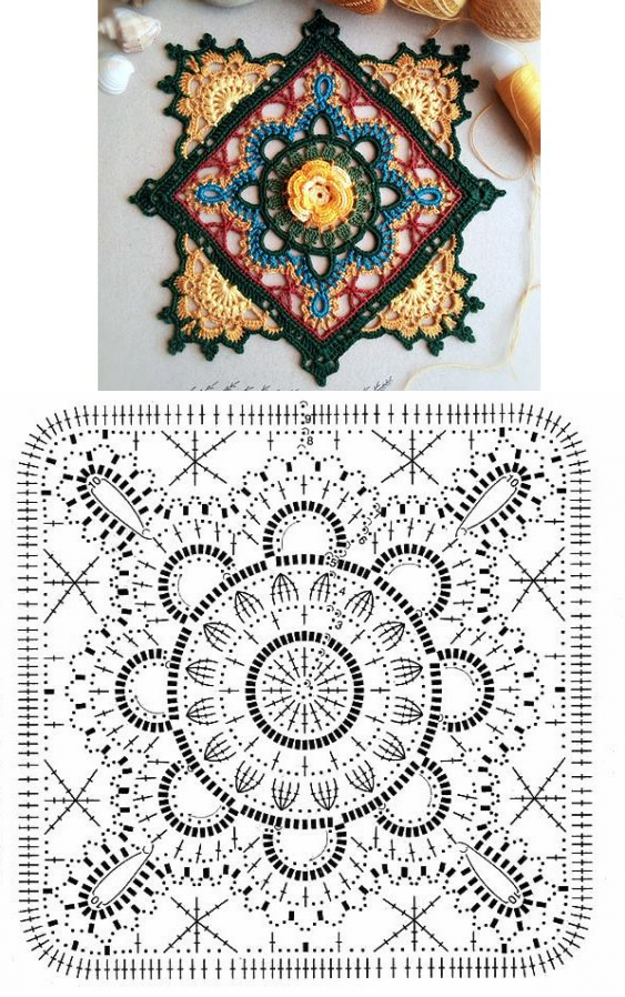 croché rosetas | carpetas.cortinas | Pinterest | Croché, Ganchillo y ...