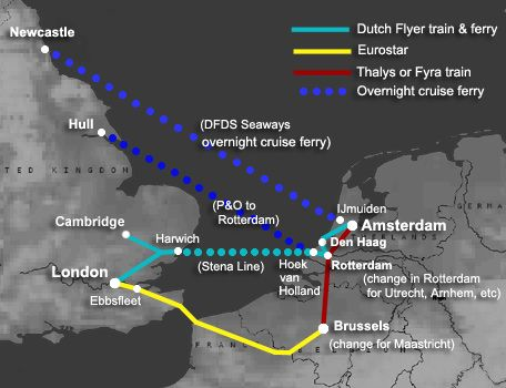 LONDON to AMSTERDAM by train ferry or Eurostar From 45 Travel