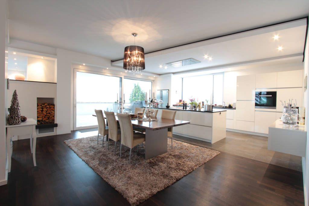 Offene kuche weiss von la casa wohnbau kuchengestaltung for Offene küchen