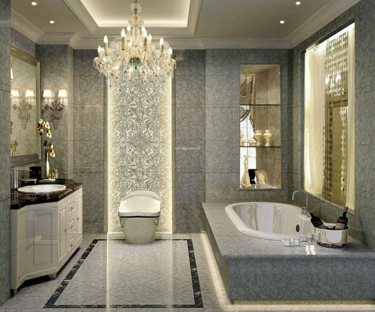 Luxury bathroom layout - Bathroom