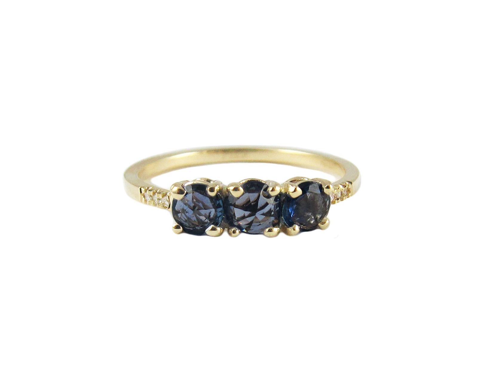 Rosecut Sapphire Equilibrium Ring Jennie Kwon Designs Delicate Rings Sapphire Wedding Rings Solitaire