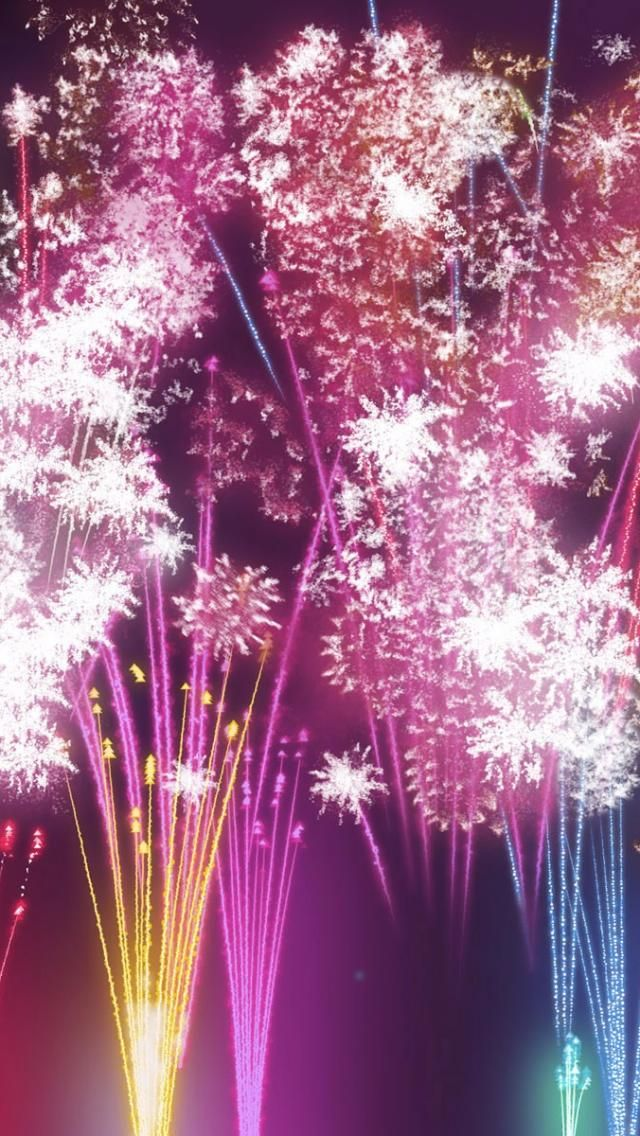 New Year Fireworks iPhone 5 Wallpaper(画像あり) 花火, Iphone