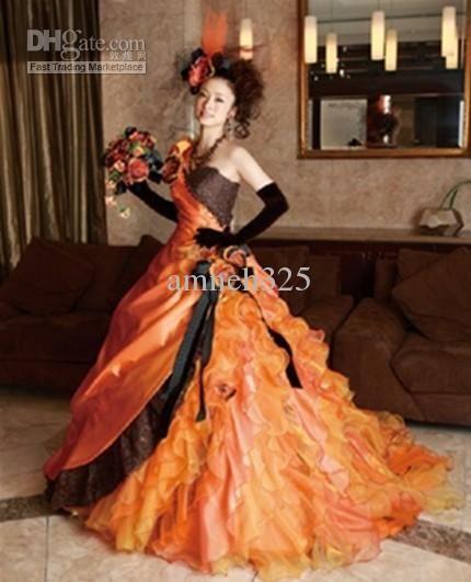 Orange and black wedding dresses taffeta and organza bridal dress orange and black wedding dresses taffeta and organza bridal dress quinceanera dress ball gown junglespirit Images