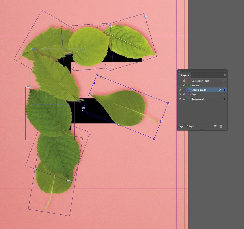 How To Create A Quick 3d Botanical Letter Effect In Adobe Indesign Hannah May Aylett Food Graphic Design Adobe Illustrator Design Graphic Design Tutorials
