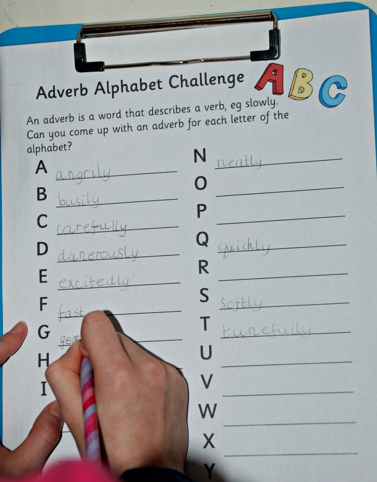 Verb Noun Adverb And Adjective Hunt Pages From Activity Village Perfect For Using At Home When Learning Grammar Adjective Words Adverbs Nouns And Adjectives Super teacher worksheets adverbs