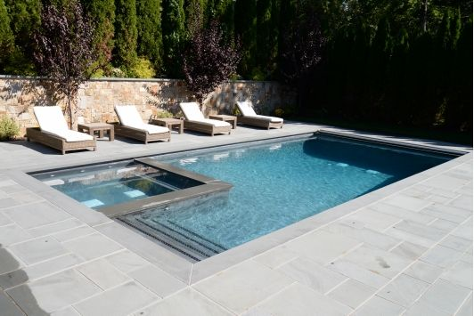 Rectangle Ground Pool Designs Houses Pools