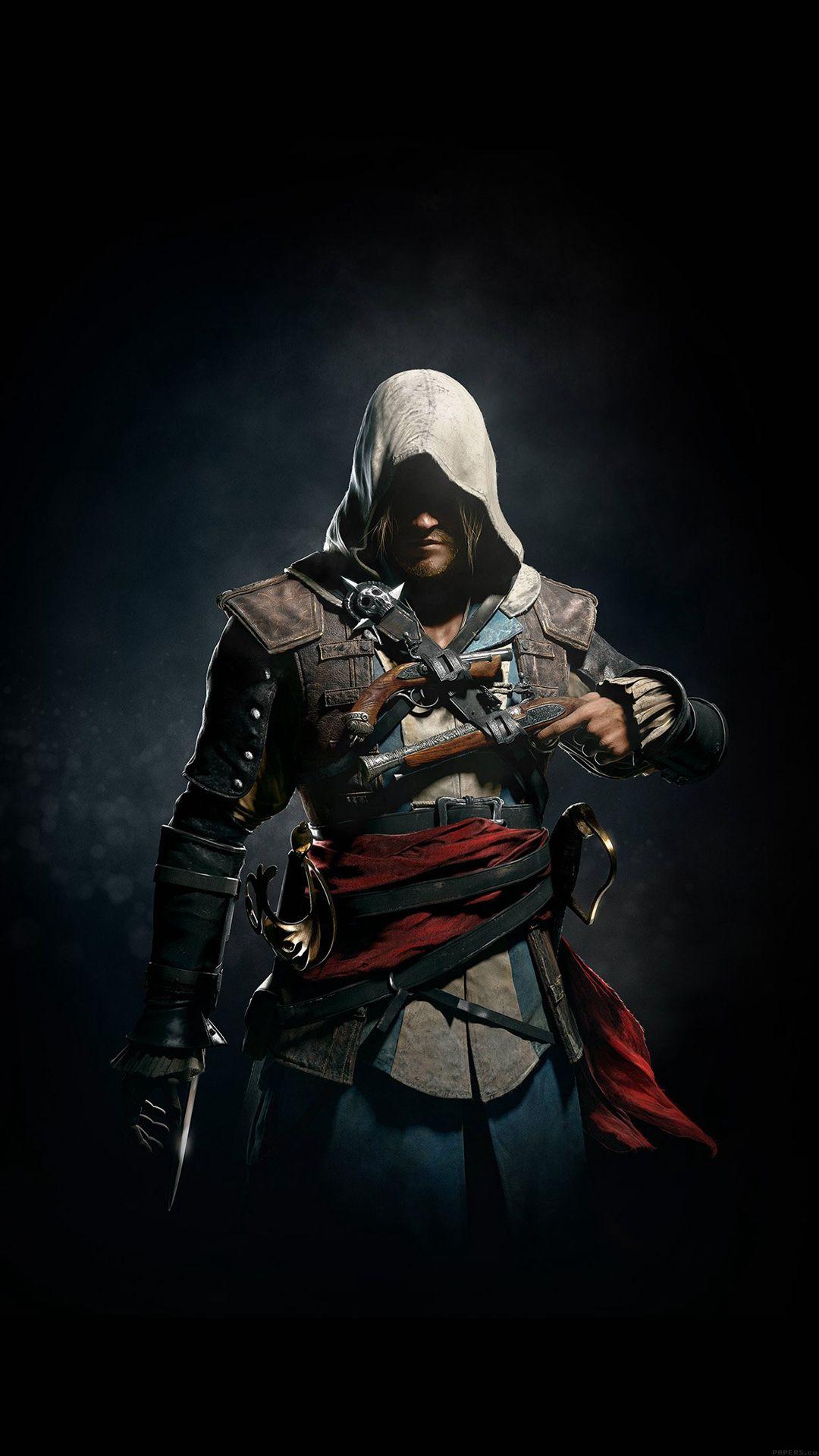 Assassins Creed 4 Dark Game Art Illust Iphone 6 Plus Wallpaper