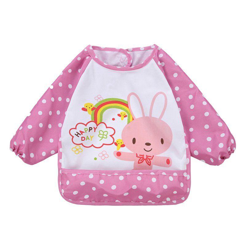 Neue Kinder Bib Karikatur Gedruckt Langarm Baby Kleinkind Bib Wasserdichte Schürze Kleidung 8 Muster für Wählen X16