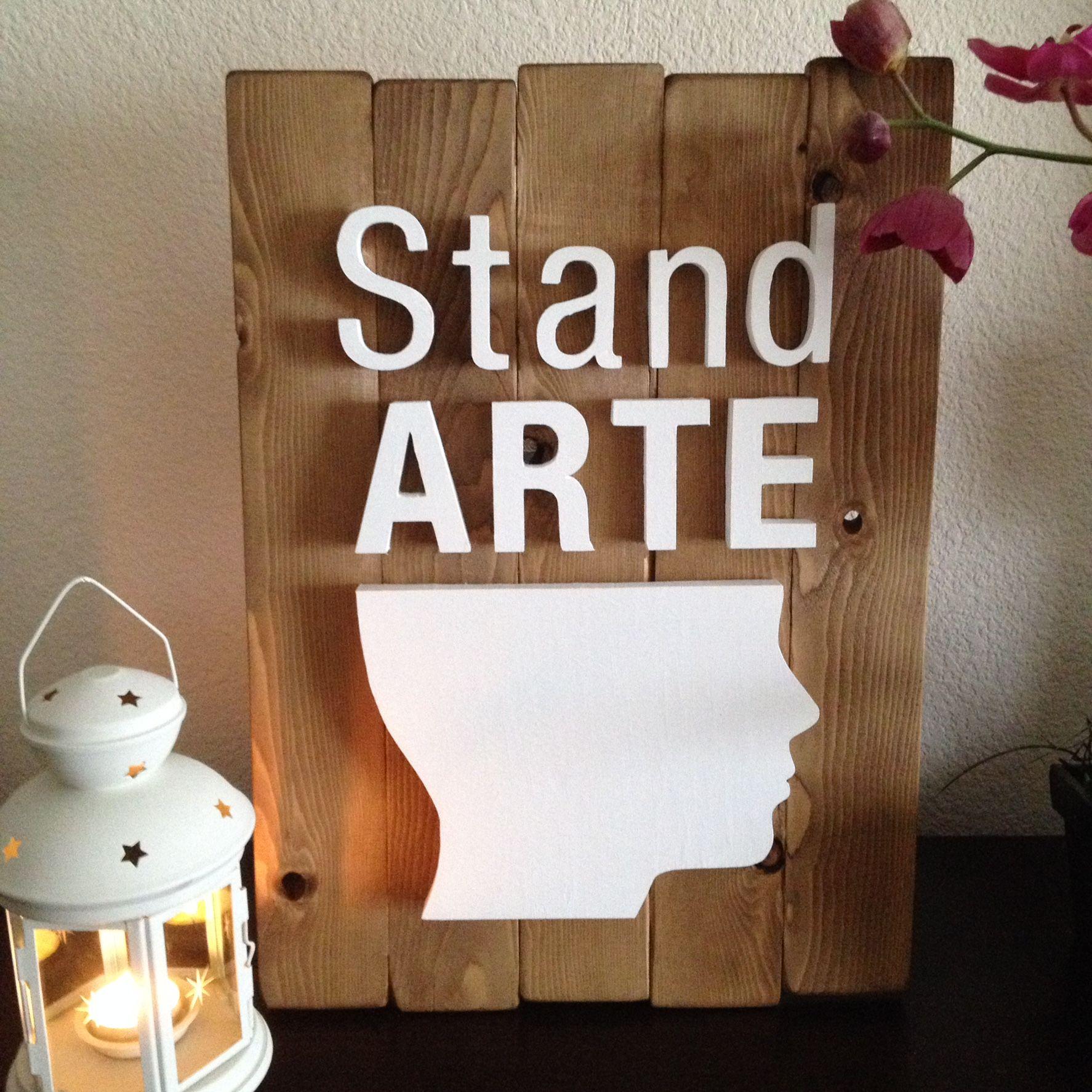 Letrero decorativo sobre madera  Decorative letters