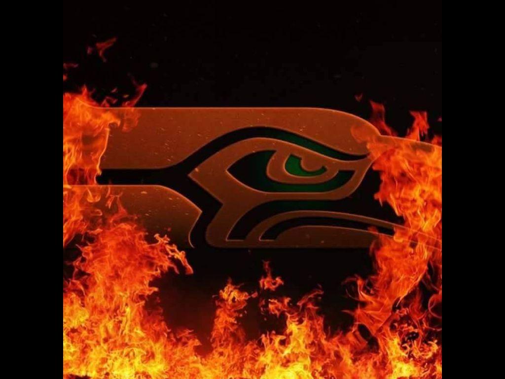 Burning hot SEAHAWKS! Seattle seahawks logo, Seahawks