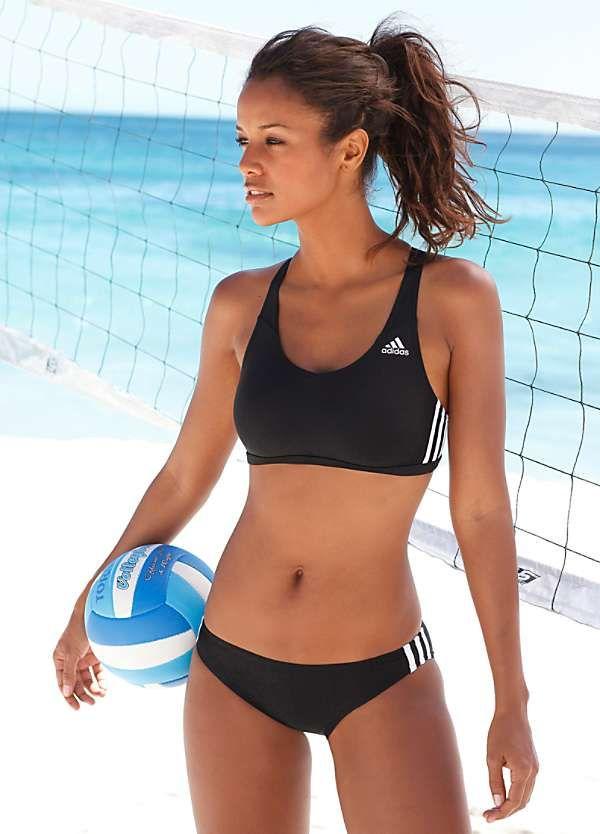 zapatos deportivos bdbfd bdf4a bikini deportiva | Moda | Bikinis, Swimsuits, Black, white ...