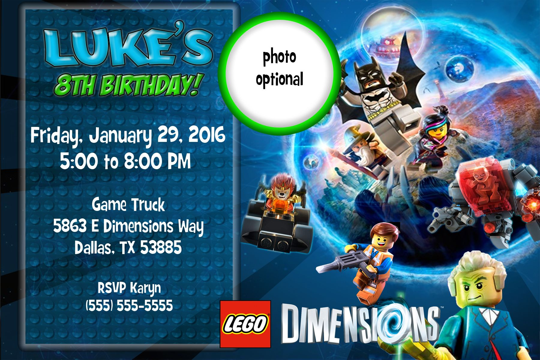 Lego dimensions birthday invitation pinterest lego birthdays visit the post for more stopboris Choice Image