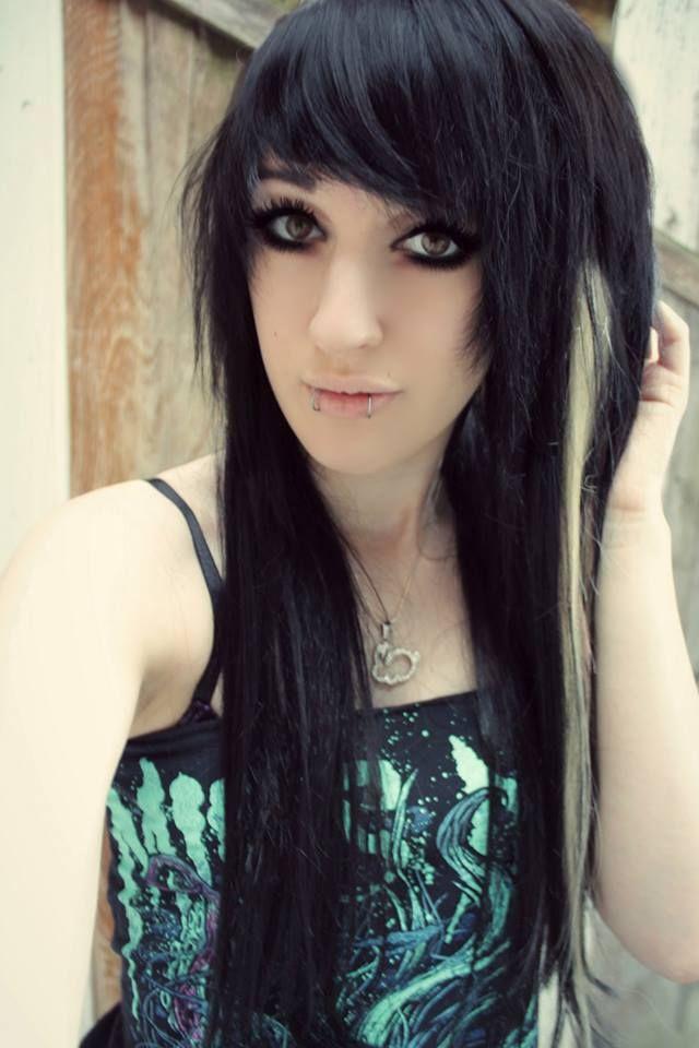 Black Blonde Emo Hair