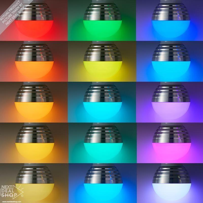 Magic Lighting Rgb Color Changing Light Bulb Bright Colors Fun Gadget To Own Color Changing Light Bulb Color Changing Lights Light Bulb