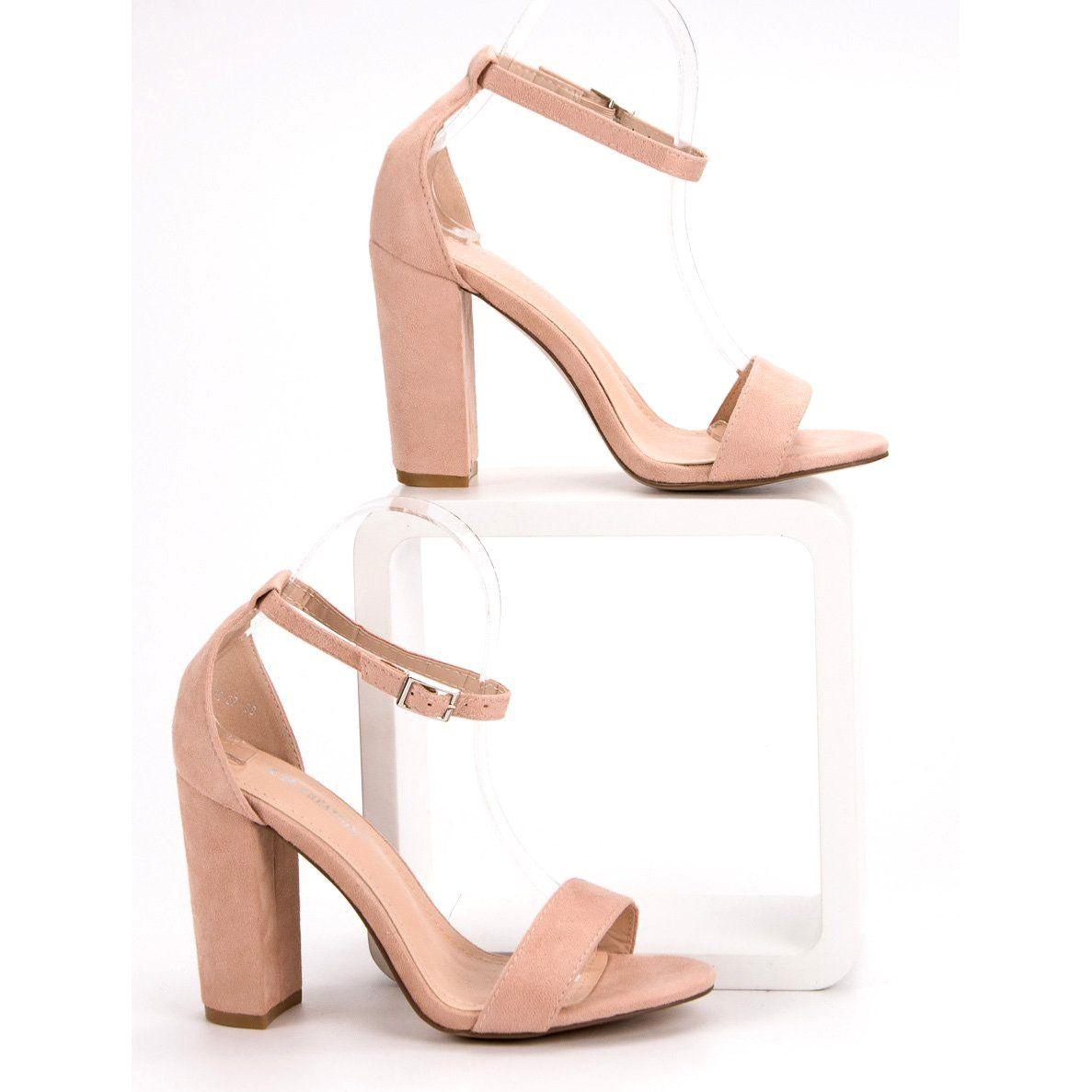 Ch Creation Rozowe Sandaly Na Slupku Zapatos