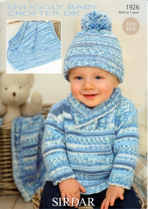 Sweater Hat And Blanket In Sirdar Snuggly Baby Crofter Dk 1926 Knitting Patterns Boys Baby Knitting Patterns Free Sirdar Knitting Patterns