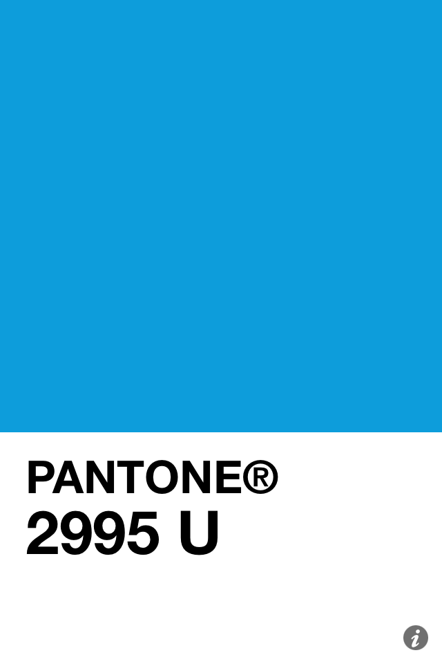 Pantone 2995 U 3 2014 Pantone 2995 U Pantone Blue