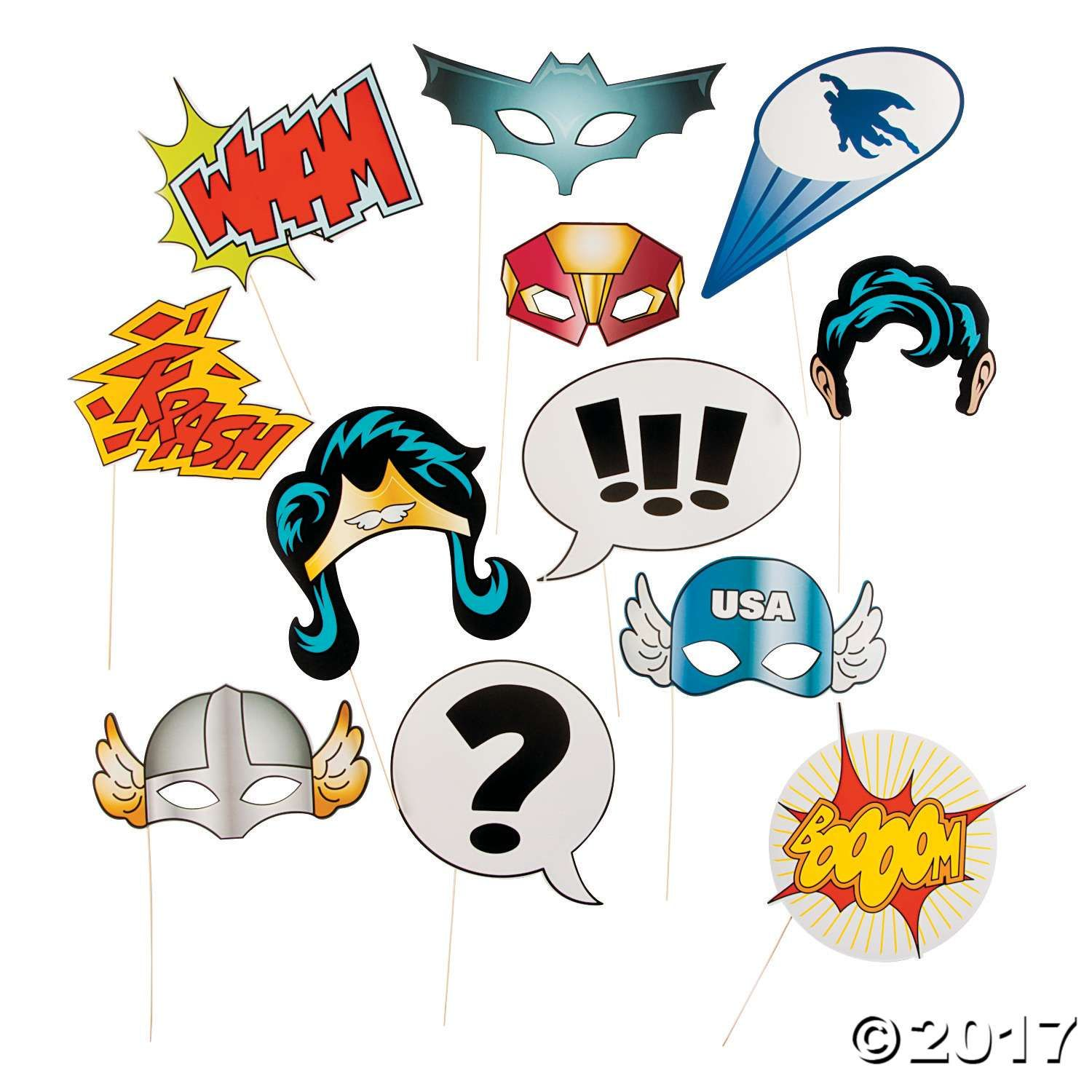 Superhero Photo Stick Props Oriental Trading Superhero Photo Booth Superhero Party Supplies Photo Booth Props