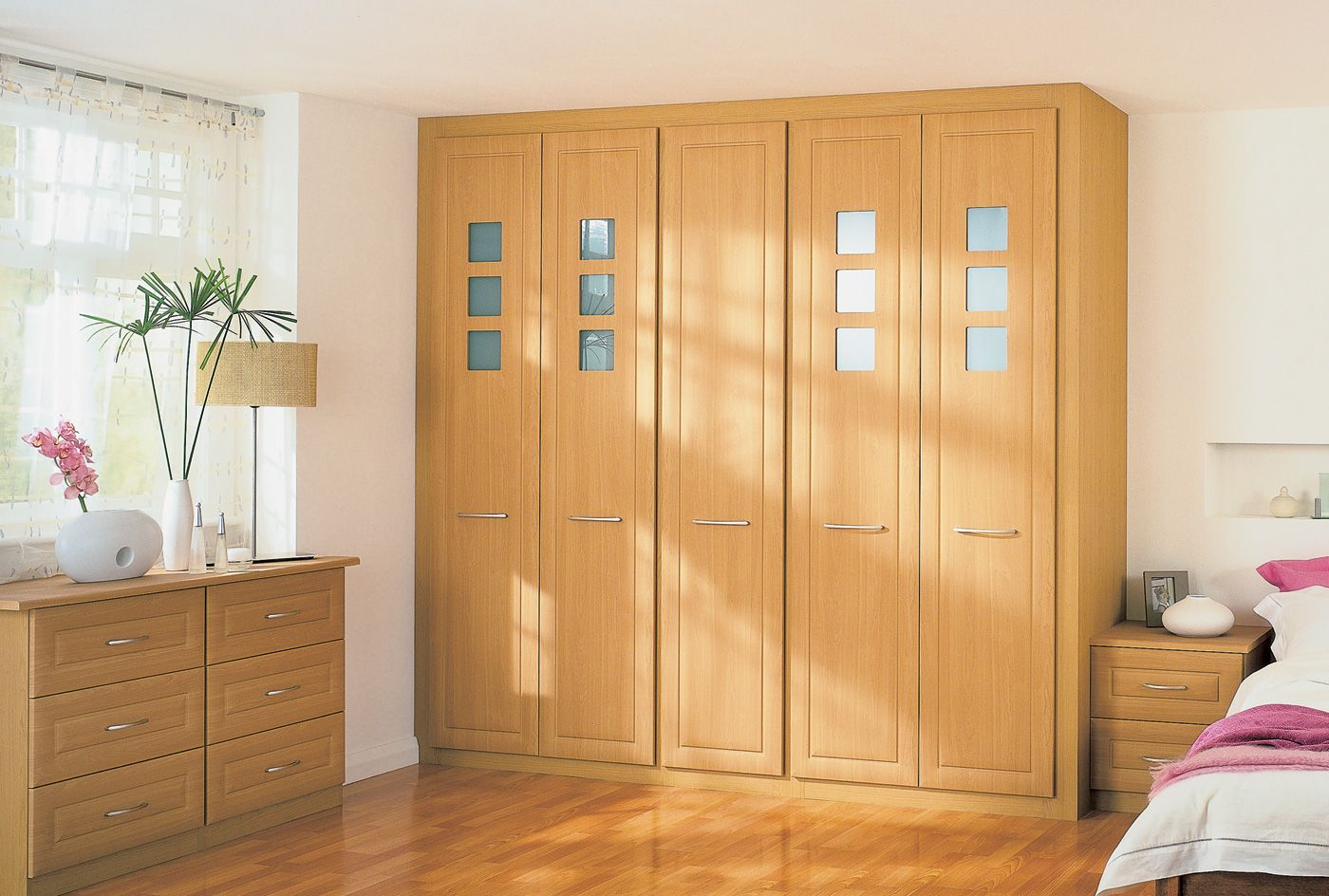 fitted wardrobes from the madrid bedroom furniture range http