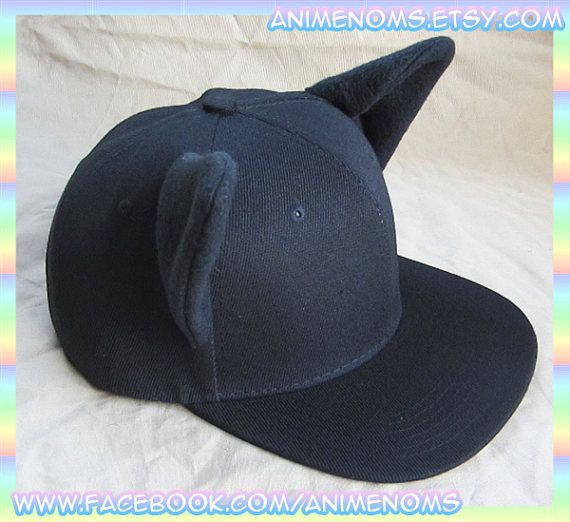 Black Cat Snapback Cap with Kitty Ears  e258e36047f