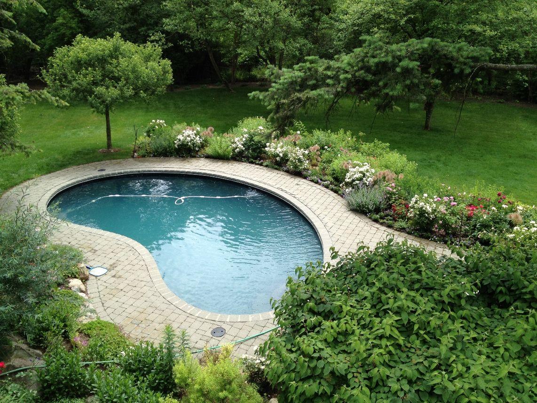 Small Backyard Pool Backyard Pool Landscaping Small Inground Pool Small Backyard Pools