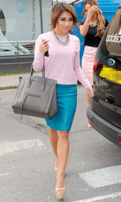 5c246e53155a 22 Stylish Leather Skirts for Women - Pretty Designs. Bright colored leather  skirt