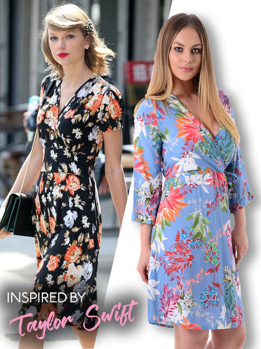 a5d9b085eed Floral Summer wrap dress. Our version was inspired by the look seen here on  Taylor